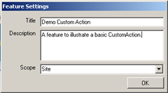 DemoCustomActionFeatureSettings